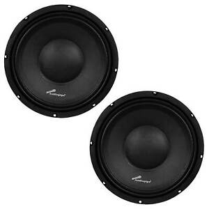 Audiopipe APSP1050 10 Inch 700 Watt Dynamic Mid Range Car Loudspeaker (2 Pack)