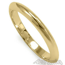 14k Solid Yellow Gold Knife Edge Plain Wedding Band Ring Sizes 5 to 9.5 #R1333