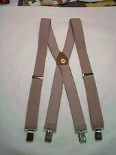 New, Men's Tan Suspenders, XL, 1.5, Adj,   Made in the USA