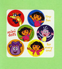 60 Dora the Explorer Mini Dot Stickers -  Party Favors - Rewards