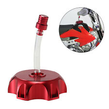 Red CNC Aluminum Gas Fuel Tank Cap Breather Vent Tube For ATV Dirt Pit Bike USA