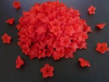 200 pcs Red Frosted Lucite Flower Acrylic Beads 10mm x 4mm