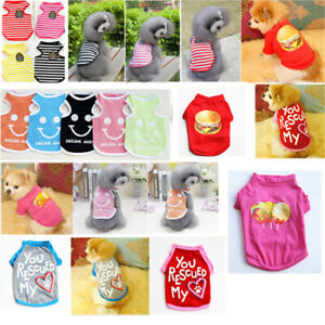 Pet Puppy Small Dog Cat Clothes Dress Vest T Shirt Apparel Clothes Summer Coat