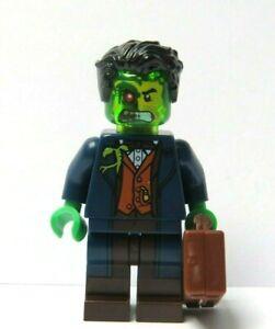 Lego Zombie Alien Monster Minifigure Green Head Hands Halloween Office Business