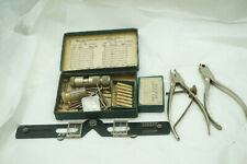 VINTAGE WATCH REPAIR TOOLS LOT CROWN TAPS PLIERS WATCHMAKER CLOCKMAKER JEWELERS