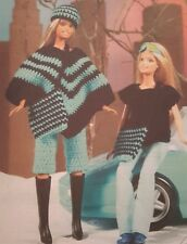 Knitting Crochet  Pattern Sindy Barbie Teenage Doll 11 inches PONCHO in 4Ply