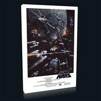 Star Wars Classic Death Star Battle 001 Framed Canvas Print