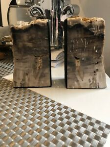 Pair of Marble? Natural Stone Bookends: Solid ~ Heavy Beautiful
