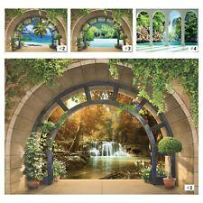 Vlies Fototapete Wasserfall 3D Effekt Ausblick Strand Fenster Landschaft Natur 1