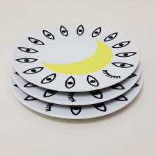 Three Walther von Bierendonk for Ikea 23102 Glodande Salad plates Crescent Moon