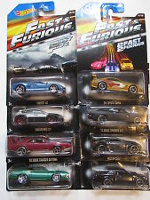 HOT WHEELS 2015 FAST & FURIOUS COMPLETE SET OF 8 DODGE BUICK FORD SUBARU NISSAN