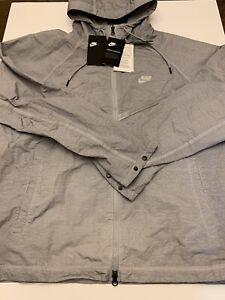 Nike Windrunner Jacket Winterized Full Zip Gray CJ4299-012 Mens Size Large New