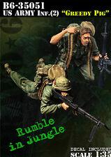 Bravo6 1:35 US Army Infantry #2 Greedy Pig Vietnam - 2 Resin Figures #B6-35051