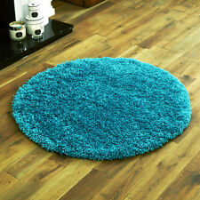 TURQUOISE BLUE MODERN NON-SHED SOFT SHAGGY RUGS 5CM THICK, SMALL - EXTRA X LARGE