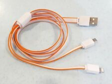2 in 1 Micro USB Mobile Data Charging Cable iPhone Samsung Android