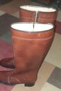 Boots ,knee ,brown ,lined, vinyl