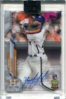 2020 Topps Clearly Authentic Autographs YA Yordan Alvarez Rookie Auto