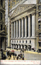 Stock Exchange and Office of Mess. J.P. Morgan & Co. NY Unused Undiv Postcard A2