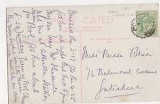 Pool Yorkshire 1907 Single Ring Postmark on Harrogate Postcard, B351