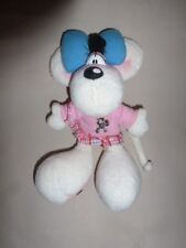 Peluche Doudou Diddl Diddlina robe rose Cheval Galupy TBE 20cm
