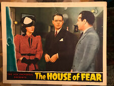 The House Of Fear 1939 Universal horror lobby card Irene Hervey William Gargan