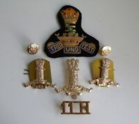 British Army 11th Hussars Cap/Collar Arm Badges/Buttons & Shoulder Title