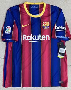 FC Barcelona 20/21 Home Nike Stadium Soccer Jersey Size XXL