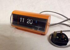 vintage 1970's Orange Coramatic O flip clock