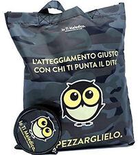 Shopper IO TI JE MAUDIS+porte-monnaie tous les deux noir camouflage