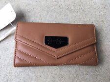 Jessica Simpson Cognac Jenita Tri Fold Wallet 10th Anniversary Edition NWT