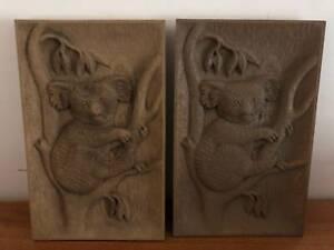 Carved Australian Koala Pictures Art