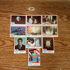 Superman The Movie 1978 Trading Cards Lot of 10 cards   B12