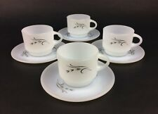 "4 Vintage Anchor Hocking Fire King ""Harvest"" Cups and Saucers"
