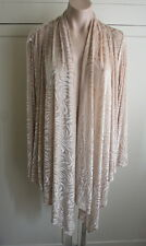 Gold Sheer Velour Open Face Cardigan Ruby Rd Size XL