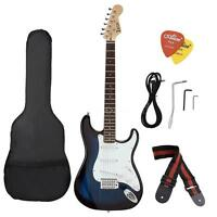 Electric Guitar Rosewood Fingerboard w/ Gig Bag Cable Strap Picks for Beginner