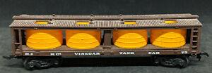 Bachmann HO Scale: HJH Co. Vinegar Tank Car #73, BROWN, VINTAGE