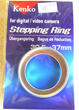 30.5-37mm Step-Up Ring Adapter - 30.5mm-37mm Stepping Ring - SILVER Kenko - NEW