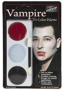 Mehron Tri-Color Palette Vampire Professional Makeup Kit