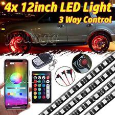 "4X12"" Strip Wheel Well LED Light Kit RGB Accent Neon Bar Rim Tire bluetooth APP"