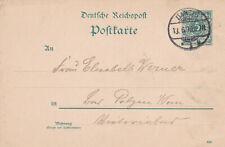 REICHSPOST GA 13.06.1890 DANZIG 1k nach Polzin Druck 590