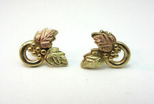CCO BLACKHILLS GOLD COLEMAN 10K YELLOW GOLD EARRINGS W/ BERRIES AND LEAVES **