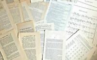50 pc junk journal paper pack antique vintage ephemera book pages Sheet Music