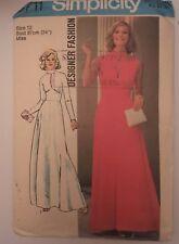 "VINTAGE ""SIMPLICITY"" PATTERN 6711 EVENING DRESS , VERY RETRP size12  (#PT -2)"