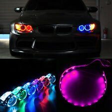 2Pcs Pink LED Lights Devil Eyes Demon For Auto Headlight Projector Lens Rings