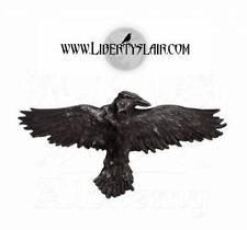 HH10 Alchemy Gothic Black Raven Pewter Hair Slide BRAND NEW
