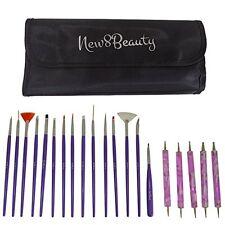 Nail Art Brushes Dotting Pens Marbling Detailing Painting Tools 20pc Kit Set