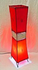 Plain Moroccan Henna Floor Lamp - meddle insert double bulb - red 120 CM
