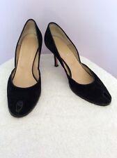 Hobbs Peep Toe Zapatos de tacón de gamuza negra Talla 7.5/41