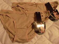 2 Pr Nude Tacto Ultrasuave Vasserette 107771 Soft Bikini Panties *NEW* S 5