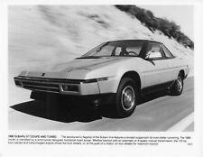 1986 Subaru XT Coupe 4WD Turbo Press Photo 0018